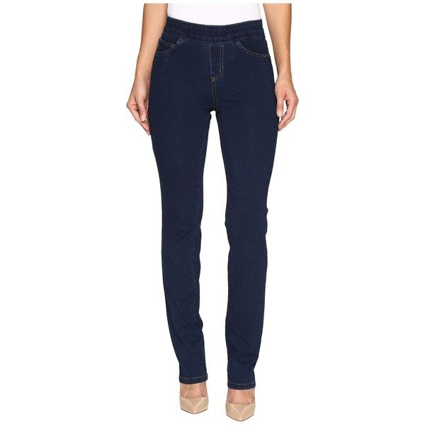 FDJ French Dressing Jeans Comfy Denim Wonderwaist Pull-On Straight Leg... ($63) ❤ liked on Polyvore featuring jeans, denim jeans, polka dot jeans, denim straight leg jeans, blue denim jeans and straight leg jeans