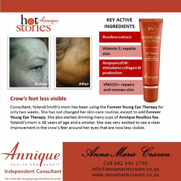 Annique eye therapy with rooibos