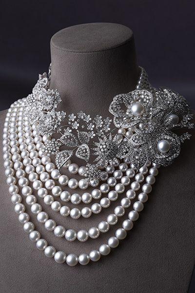 ネックレス/WGK18製・アコヤ真珠・白蝶真珠・ダイアモンド