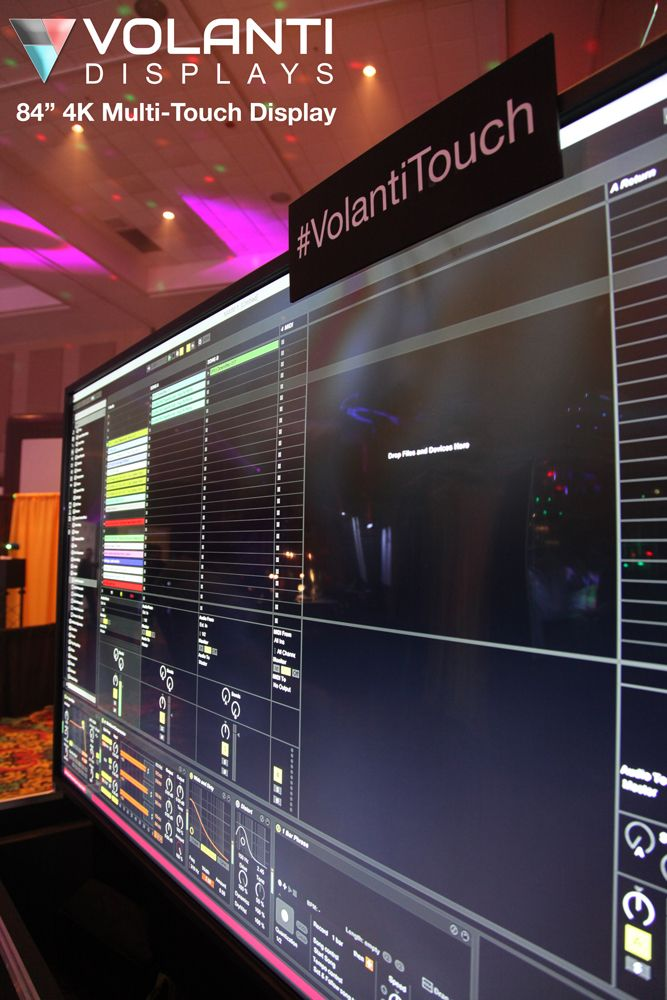 "84"" Multi Touch Display with Traktor Software"