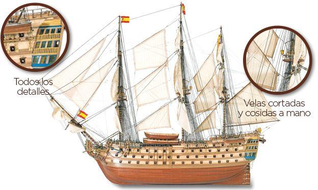 Maqueta de barco en madera: Santa Ana. Ref.: 22905  //  Wooden Model Ship: Santa Ana