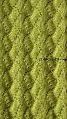 Красивый узор для вязания пуловера спицами. Узоры для свитера спицами