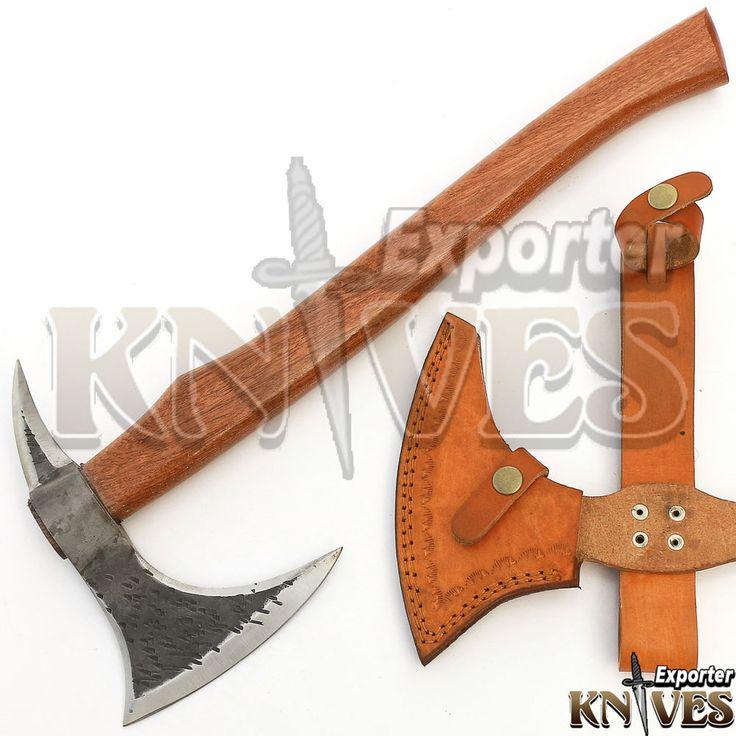 """Knives Exporter New Custom 18"""" Handle Carbon Steel Bearded Felling Axe S474 #Knivesexporter"""