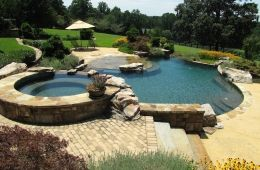 Inground Swimming Pool With Infinity Edge