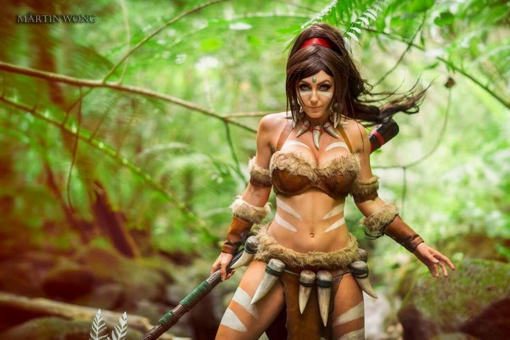 Cosplayer: Jessica Nigri.  Country: United States.  Cosplay: Nidalee from League of Legends.  Photo by: Martin Wong Photography.  https://m.facebook.com/OfficialJessicaNigri/