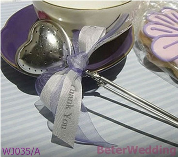 WJ035/A_Heart-Shaped Tea Infuser Wedding Decoration_Wedding Gift_Wedding Souvenir @Gail Regan Truax://www.BeterWedding.com