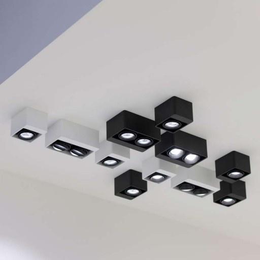 Deltalight Boxter 2 LED wit met zwart - Spots - Binnenverlichting - Lampenlicht.be