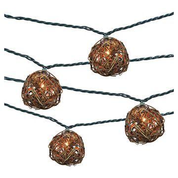 10ct Decorative String Lights-Grapevine Ball Cover - Threshold™