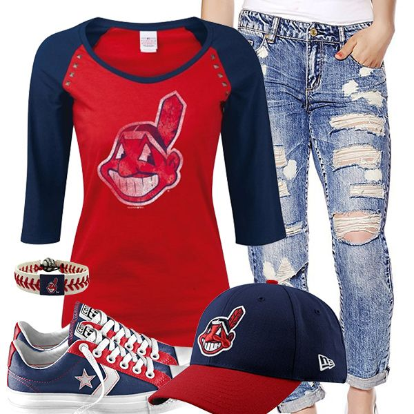 Cleveland Indians Converse Outfit