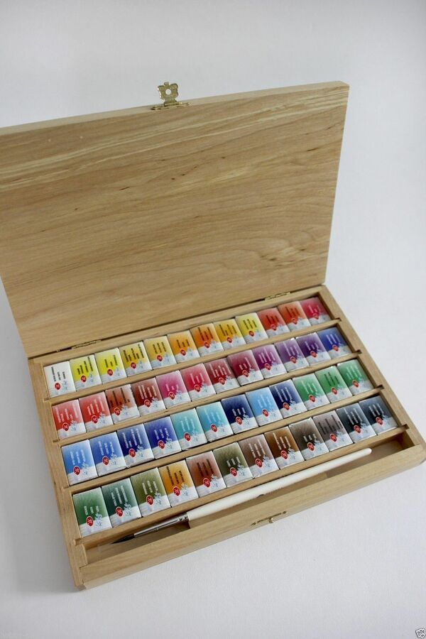 Details About Watercolor Paint 48 Colors Set White Nights Birch