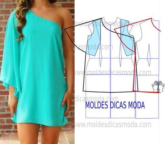 A proposta de hoje passa por este molde vestido azul muito solicitado por algumas das seguidoras da página. A elegância é uma das características deste mod: