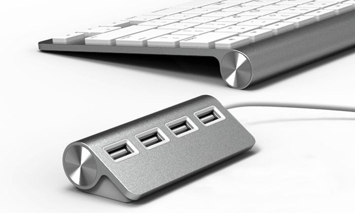 Groupon Goods Global GmbH: Premium Four or Seven Port Aluminium USB Hub with Shielded Cable