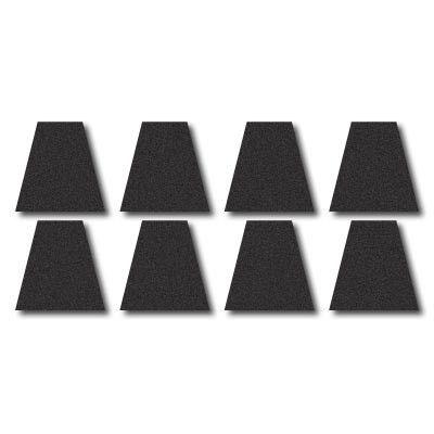 Fire Helmet Tetrahedron Set - Black