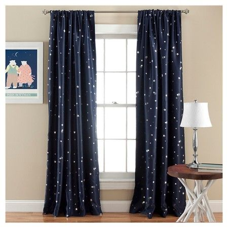 For his new room :-) Star Curtain Panels - Room Darkening - Set of 2 : Target