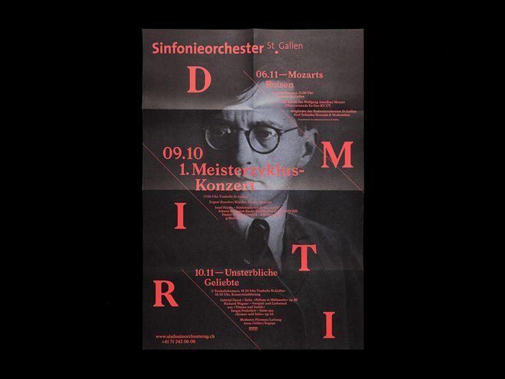 Sinfonieorchester St.Gallen – Dmitri by Bureau Collective   design inspiration   poster