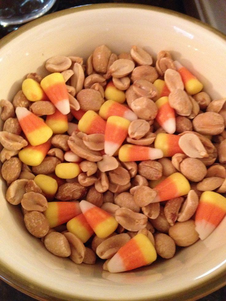 Peanuts & Candy Corn (tastes like a Payday candy bar)