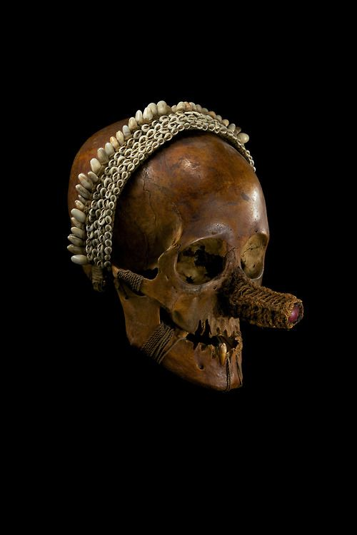 Asmat Skull.Ryan Matthew's Collection. Photo by Sergio Royzen.