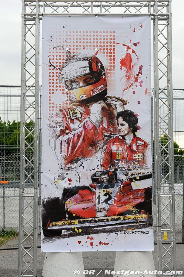 ( 2016 ) IN MEMORY OF ★ † GILLES VILLENEUVE. ) ★ † Joseph Gilles Henri Villeneuve - Wednesday, January 18,1950 à l'hôpital de Saint-Jean-sur-Richelieu, Québec, Canada. Died; Saturday, May 08,1982. (aged of 32) Leuven, Belgium. Cause of death; Villeneuve died in a 140 mph (225 km/h) crash caused by a collision with the March of Jochen Mass during qualifying for the 1982 Belgian Grand Prix at Zolder. He died at 21:12 CEST (Central European Summer Time).