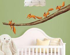 Awesome Wandtattoo Wald Babyzimmer Einh rnchen halt dich fest