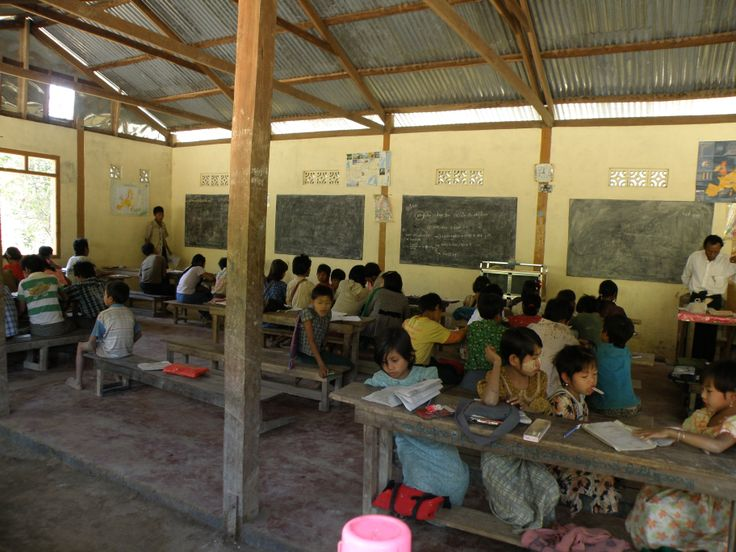 4 classrooms in one - chin Village, Chin State, Myanmar