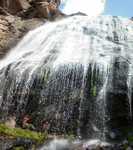 Elbrus trek waterfalls