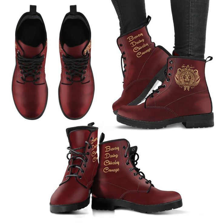 Harry Potter Women's Leather Boots - Hogwarts Houses