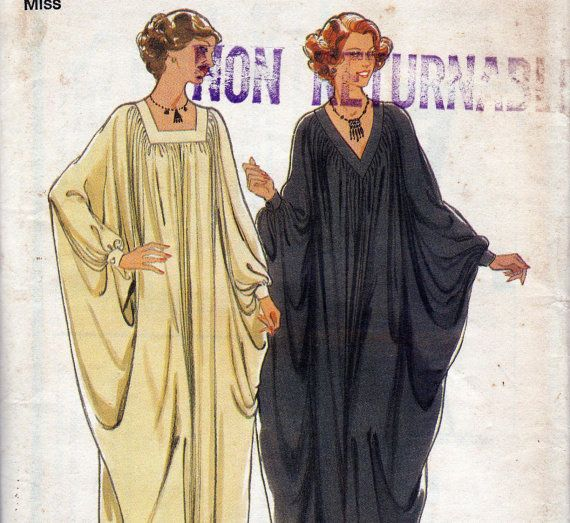70s Vintage Sewing Pattern Caftan Style by allthepreciousthings,