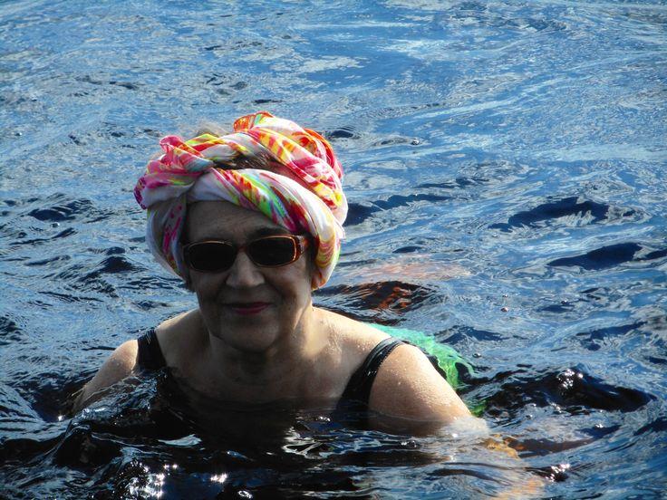 Uimassa Lestijärvellä .heinäkuu 2015