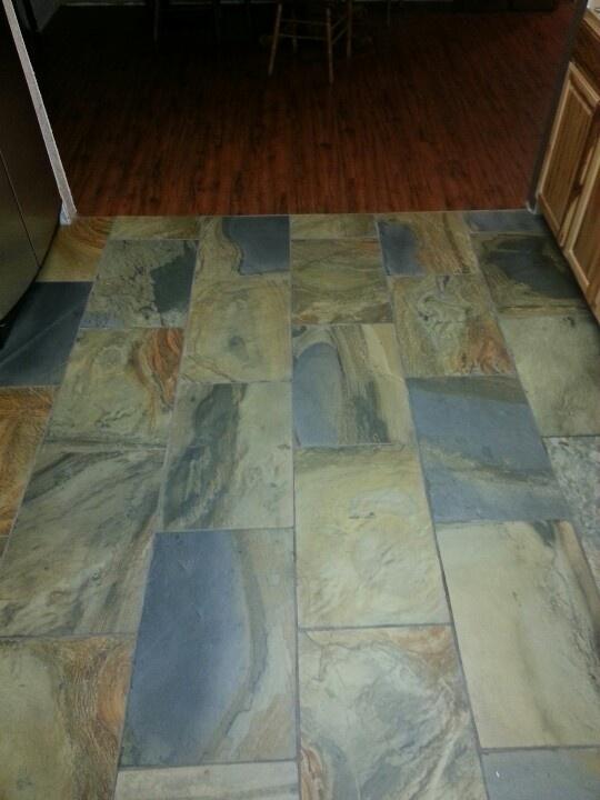 Slate kitchen flooring ceramic porcelain tile unique for Unique kitchen floor tile