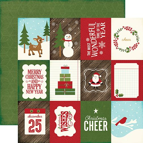 Echo Park - The Story of Christmas Collection - 12 x 12 Double Sided Paper - 3 x 4 Journaling Cards at Scrapbook.com