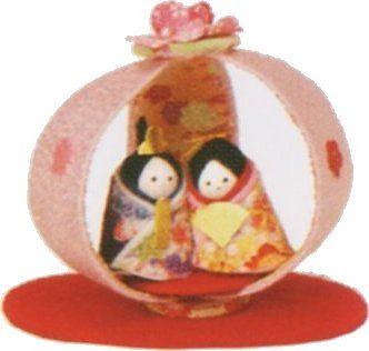 ひなまつり ぼんぼり 雛祭り手作りちりめん細工雛人形 コンパ...|京都 和匠ポラーコ【ポンパレモール】