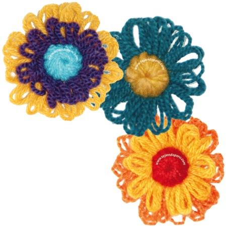 Tutorial para tejer estas flores con el telar redondo o reloj.