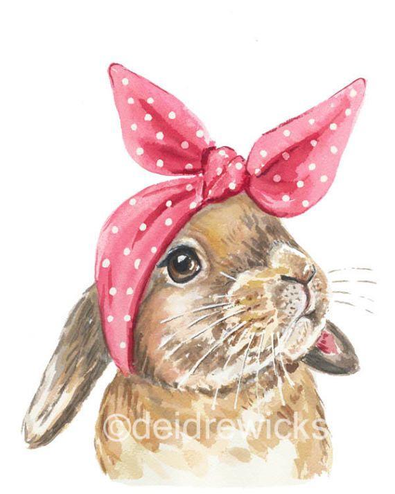 Kaninchen Aquarell Kunstdruck 8 x 10 drucken   – Instagram