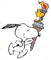 SNOOPY & WOODSTOCK~Ready for the Olympics!