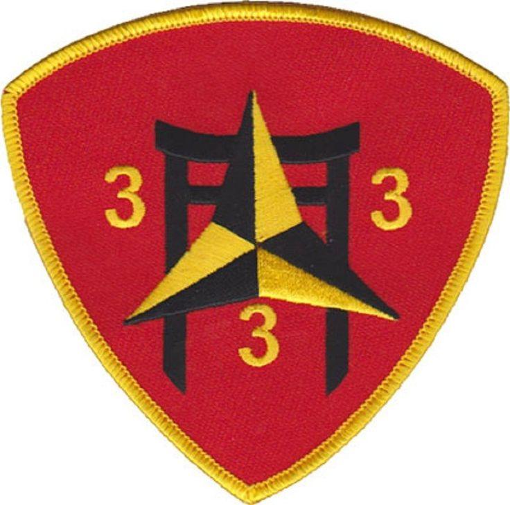 USMC 3rd Battalion 3rd Marines Patch