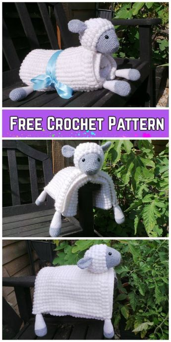 Cuddle And Play Sheep Blanket Crochet Pattern Crochet