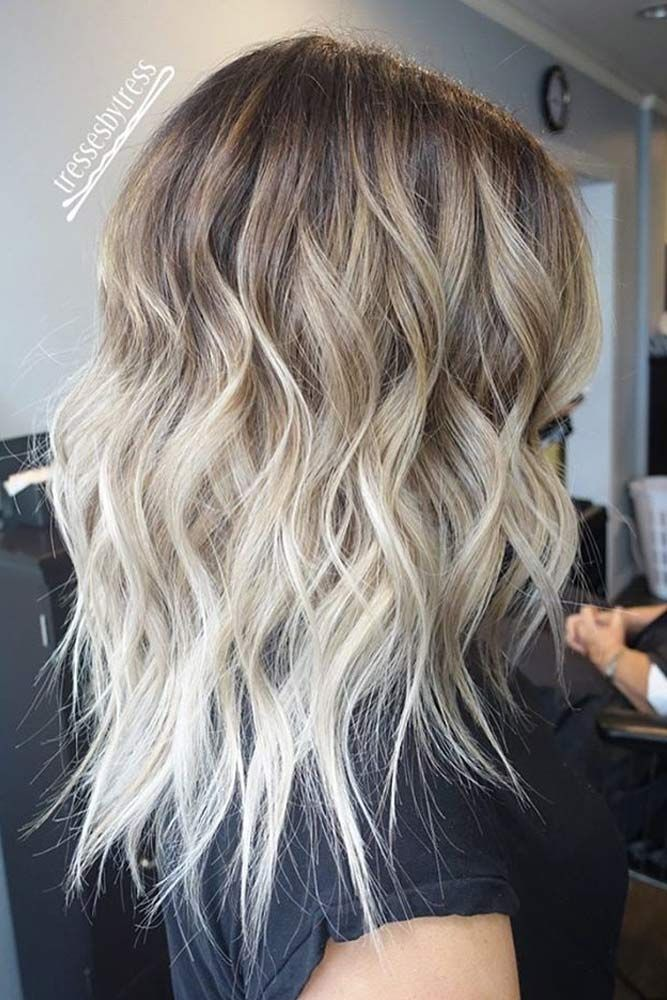 Best 25 medium length ombre hair ideas on pinterest long bob brown to blonde wavy ombre hair for shoulder length hair urmus Choice Image