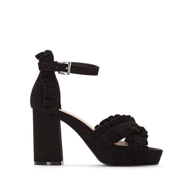 548e57462f97e1 Sandales talon haut, détail volants   Whislist   Shoes, Heels et Sandals