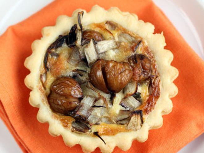 Mini-quiches alle castagne e radicchio rosso (+brisée di knam), Ricetta da Fiordifrolla - Petitchef