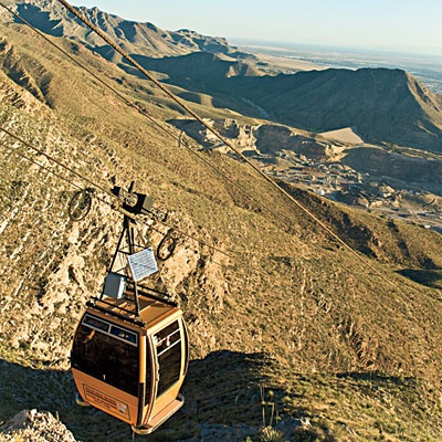 El Paso, Texas Travel: Mountain Views at Wyler Aerial Tramway at Franklin Mountains State Park