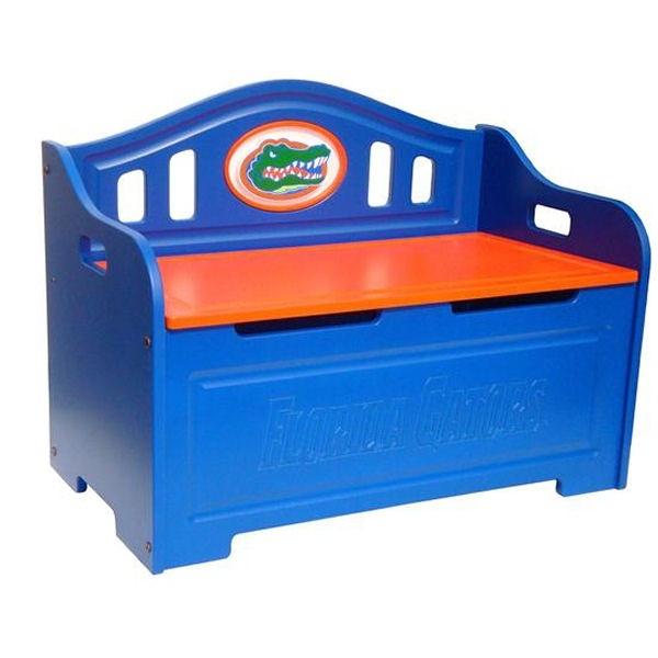 Florida Gators Painted Storage Bench