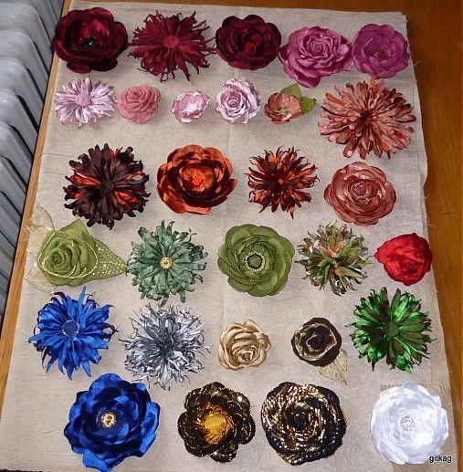 Kvety - ruže, pivónie, astry by marggaretka - SAShE.sk - Handmade Odznaky/Brošne