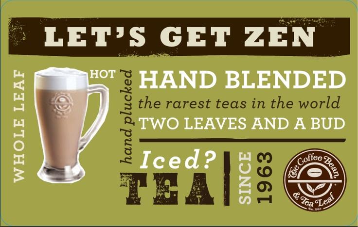 The Coffee Bean Card Tea Design