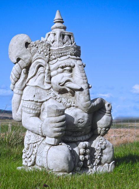 Stone Cast Ganesh Elephant Statue Ganesha Hindu Deity G*D 400 x 300