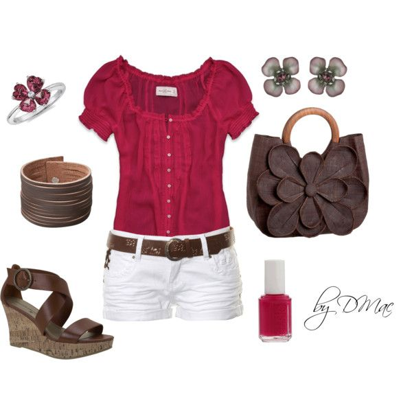 Love that outfit & all the cute flower accessories!