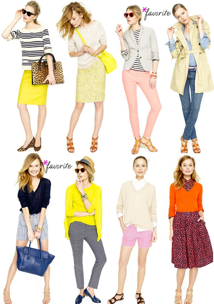 YEAR OF YELLOW! J.crew. Get dressed!