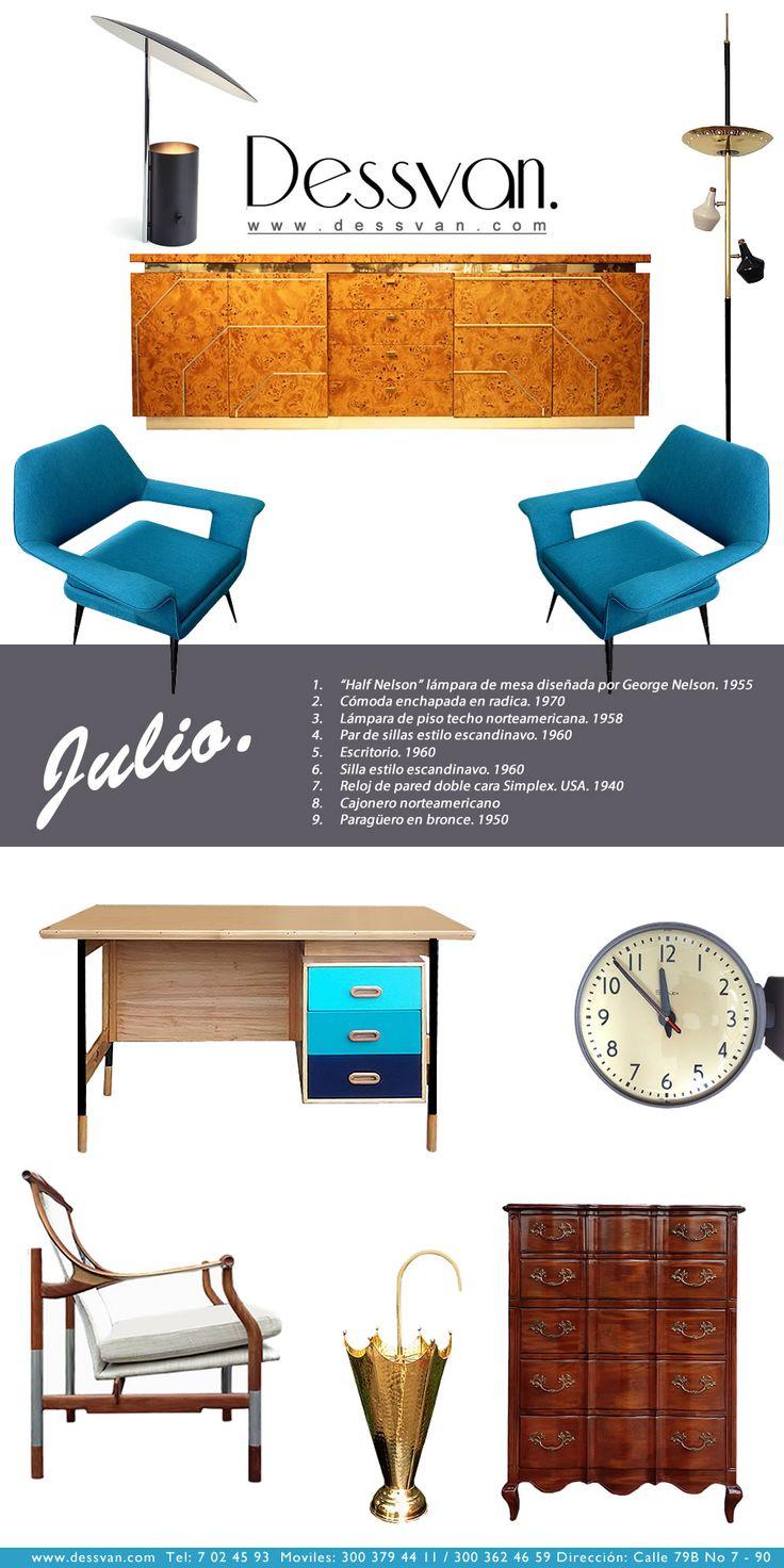 Boletín Julio Newsletter July www.dessvan.com Tel: 7 02 45 93 Calle 79B # 7-90, Bogotá  #dessvan #dessvanantiguedades #vintagebogota #bogota #colombia #mueblesbogota #mobiliariobogota #calledelosanticuarios #lamparas #lamparasbogota #antiguedadesbogota #designbogota #midcenturybogota #interiorismo #AsesoriaDecoracion