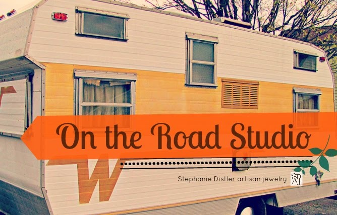 On the Road Studio- fusion of the making of my artisan jewelry and our vintage travel trailer www.ontheroadstudio.blogspot.com and a Vintage Winnebago Camper group on facebook https://www.facebook.com/groups/110720309115267/