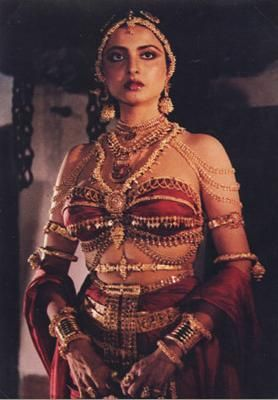 Bhanurekha Ganesan (born 10 October 1954), better known by her stage name Rekha, is an Indian film actress who has mainly appeared in Hindi films.