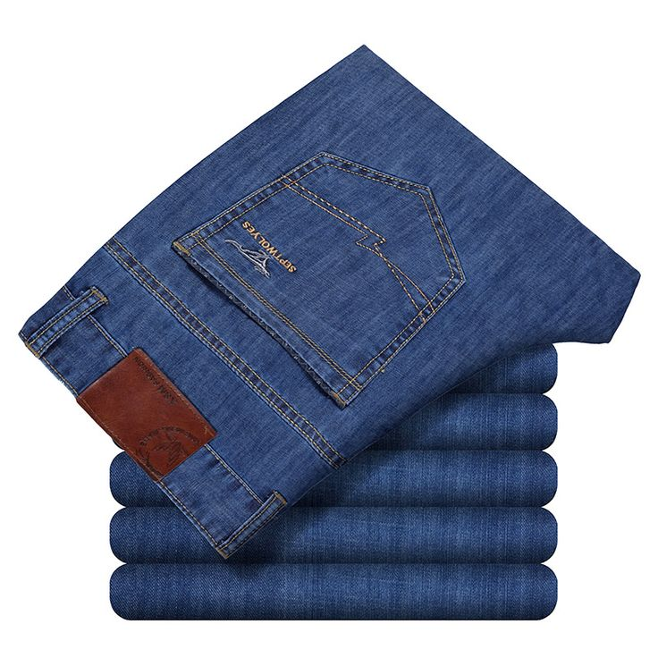 >> Click to Buy << Cheap Mens Jeans Aliexpress Summer Loose Men's Business Jeans Stretch Work Dress Jeans Pepe Pants For Men Father Day #Affiliate